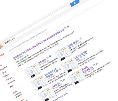 Efecto 360º al realizar una búsqueda en google 1