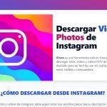 Cómo descargar videos de instagram