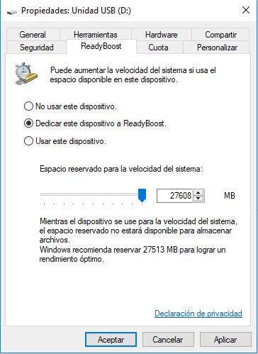 ReadyBoost para mejorar el rendimiento de nuestro PC 3